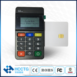 EMV POS credit card reader bluetooth smart card reader Pinpad Mobile VISA wireless card for android and iOS phone  SDK HTY711