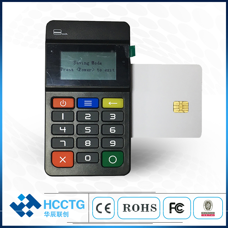 EMV POS credit card reader bluetooth smart card reader Pinpad Mobile VISA wireless card for android and iOS phone SDK HTY711 image