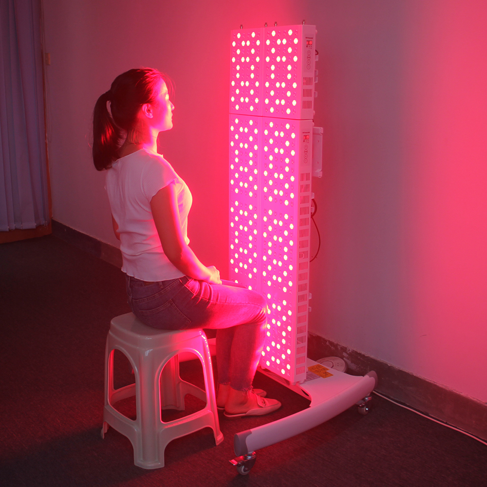 Red Light Therapy Anti Aging 255W 660nm 850nm LED Therapy Light Panel With Time Countdown In Second Display
