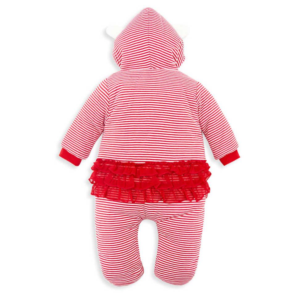 Honeyzone Neugeborenen Baby Mädchen Overalls 0-12 monate Winter Rosa Dicke Warme Baby Footies Baumwolle Infant Overalls Baby Jungen körper Anzug
