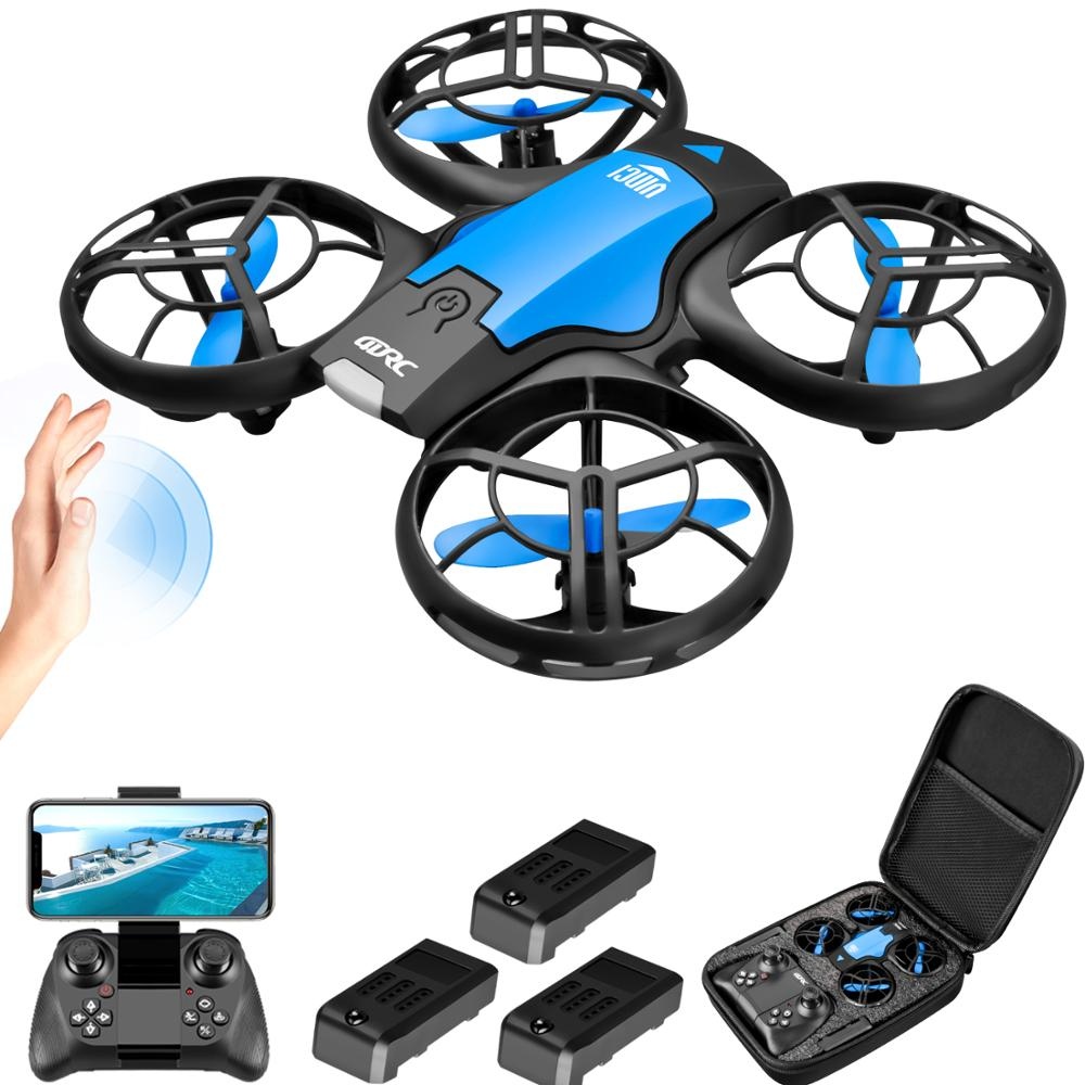 4DRC V8 Mini Drone 4K 1080P HD Camera WiFi Fpv Air Pressure Altitude Hold Black Quadcopter RC Drone Toy 1