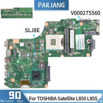V000275560 For TOSHIBA Satellite L850 L855 6050A2541801-MB-A02 SLJ8E HM75 Mainboard Laptop motherboard DDR3 tested OK