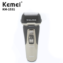 Kemei New 220V Electric Shaver Intelligent LED Display Razor USB Charging Mens High Quality Daily Necessities KM-1531