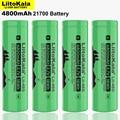 Новинка 2021, LiitoKala Lii-48S 3,7 в, 21700 мАч, литий-ионная аккумуляторная батарея 4800 А, сила тока 2С, разряд тройных литиевых батарей