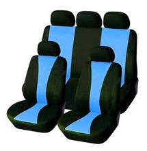 Sprzedaż uniwersalne pokrowce na siedzenia samochodowe poliester z 3MM gąbka łączona car styling pokrowce na fotele samochodowe pokrowce na siedzenia samochodowe tanie tanio YANG MEI LING Cztery pory roku 46 46inch Pokrowce i podpory 0 8kg 22 05inch Car Seat Covers Black Gray Black Beige Black Red Black Blue Black Pink Black Green