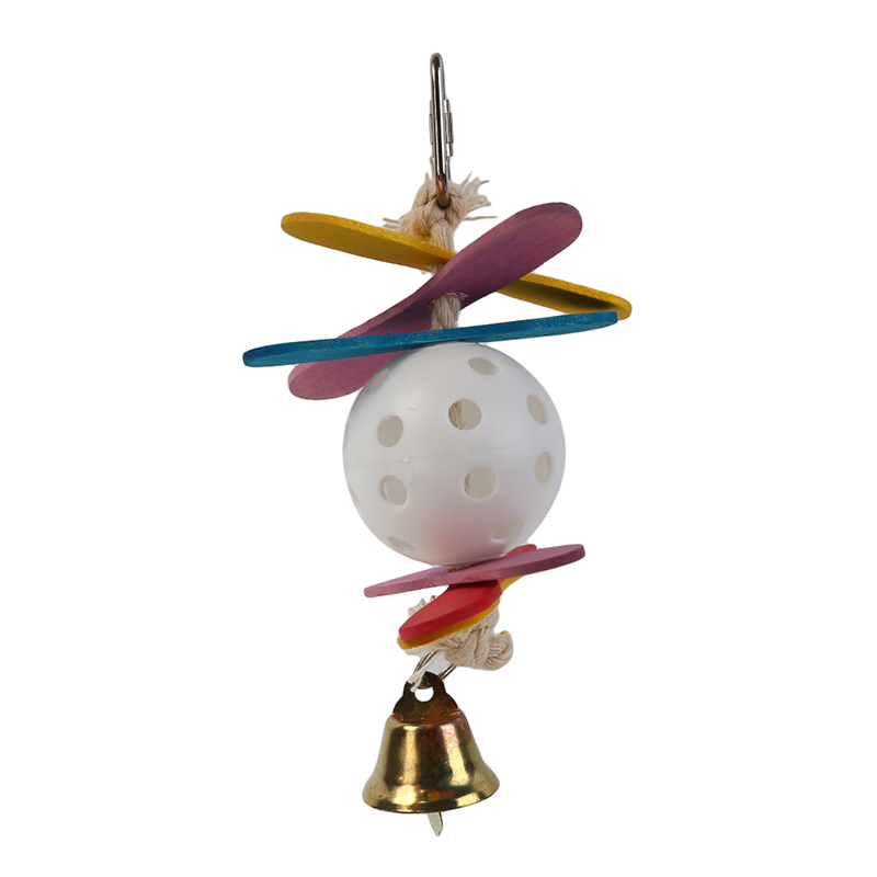 Птица жевательная игрушка для попугаев пластиковый шар цветная деревянная Тянущая струна Птица Попугай Игрушка с колокольчиком натуральная деревянная трава жевательная игрушка для укуса