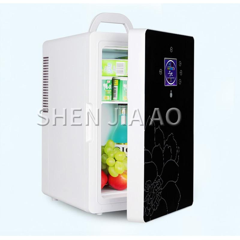DC-005 Car refrigerator 16L dual-core LCD display temperature control small refrigerator Mini home dormitory cosmetic fridge 1pc