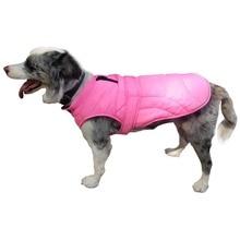 Reversible Warm Dog Clothes Coat Jacket Dogs Costume Large Vest Apparel Reflective Windproof Cotton Jackets