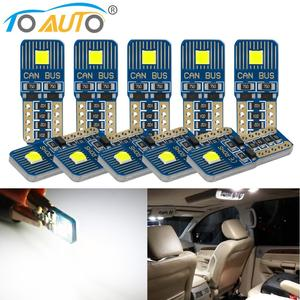 10pcs Super Bright Canbus T10 W5W LED Car Parking Lights WY5W 168 194 Turn Signal Bulbs Interior Reading Dome Auto Lamp 12V