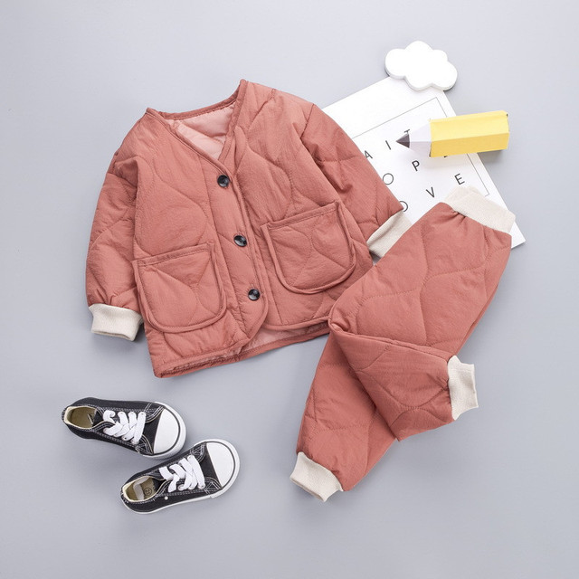 Unisex Jackets For Childrens Set Baby Girls Boys Winter Coats Long Sleeve Kids Warm Baby Jacket Outerwear Solid Fleece Clothing