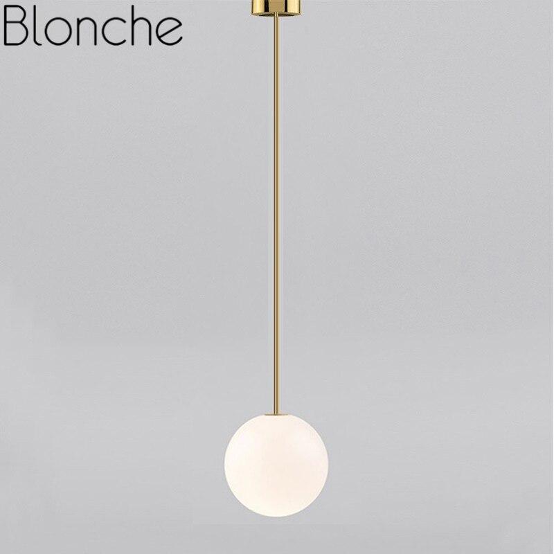Modern Pendant Lamp Nordic Hanging Lights Minimalism Line Glass Ball Gold Fixtures for Living Room Bedroom Loft Home Decor Light|Pendant Lights| |  - title=