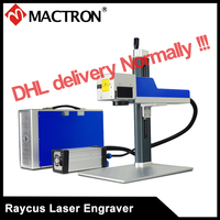 Raycus 20W Mini Portable Metal Laser Marking Machine Fiber Laser Marker for Steel, Plastic, Coating