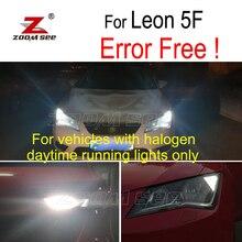 4 шт. светодиодный фонарь заднего хода+ дневные ходовые лампы+ внешние огни комплект для сиденья для Leon MK3 5F 5F1 5F5 5F8 SC ST(2013