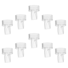 10pcs Manual Breast Pump Silicone Duckbill Valves Replacement Parts for