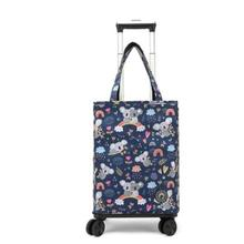 Grocery Shopping Bag With Wheels shopping bag for boutique Portable Travel Trolley Bag Picnic Insulation Rolling Shopping Bags