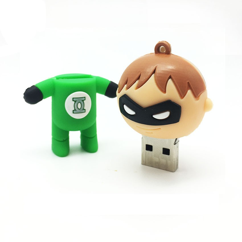 Cartoon Pen Drive Superhero Memory Stick USB Key 128GB 64GB 32GB 16GB 8GB 4GB Flash Pendrive