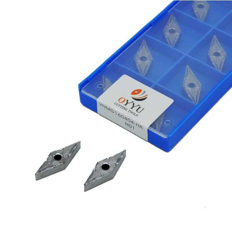 10*pcs  VNMG160404-HA H01 VNMG331 CNC Carbide Inserts For Aluminum Copper