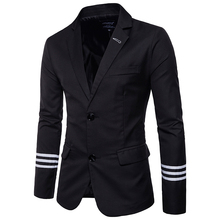 New Arrival casual men Suit coat college style Fashion striped design Mens jacket Slim fit Masculine Blazer Asian size 5XL
