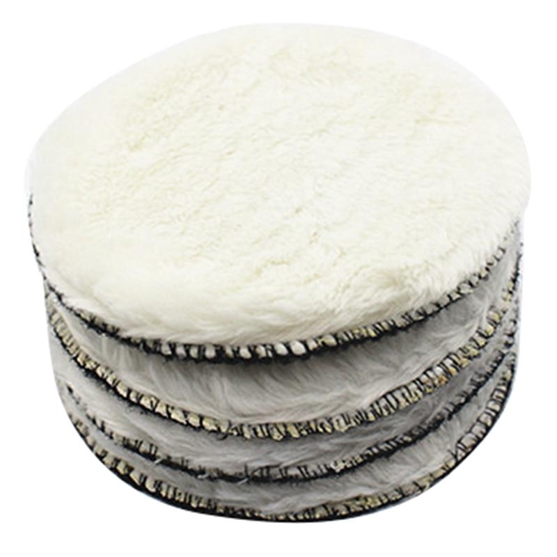 20 pçs 125mm almofada de polimento do carro 5 Polegada polonês enceramento almofadas fibra polidor capô pintura carro cuidados