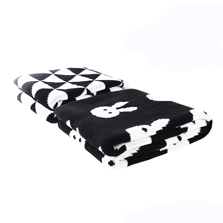 Processing New Style Pure Cotton Babies' Woolen Blanket Baby Blanket Children Knitted Airable Blanket Meng Meng Knitted Blanket