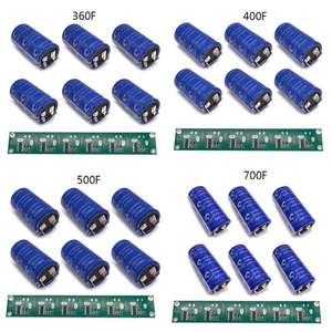 Capacitor Balancing Protection-Board for Car-Solderless Flat-Feet 6PCS Low-Esr 700F Super-Farad
