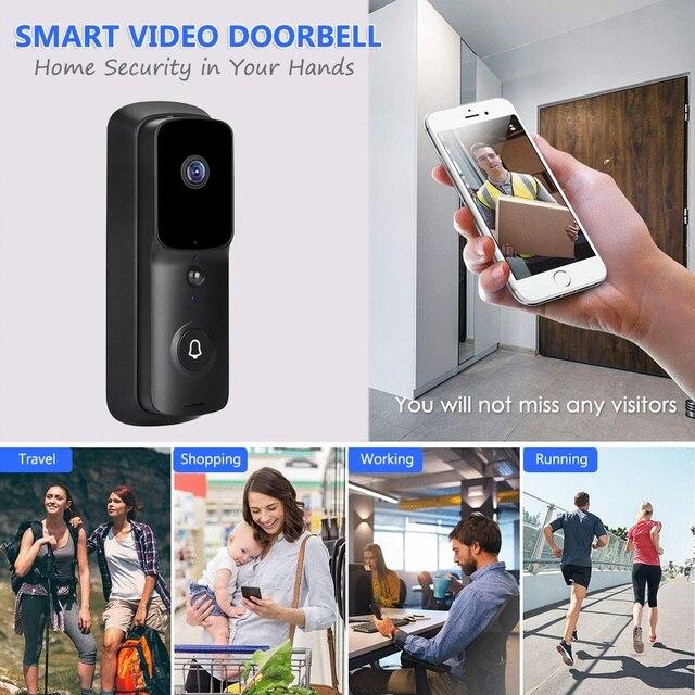 Tuya WIFI kapı zili 1080P HD Video interkom görüntülü kapı telefonu akıllı yaşam kablosuz güvenlik kapı zili kamera IR gece görüş alarm
