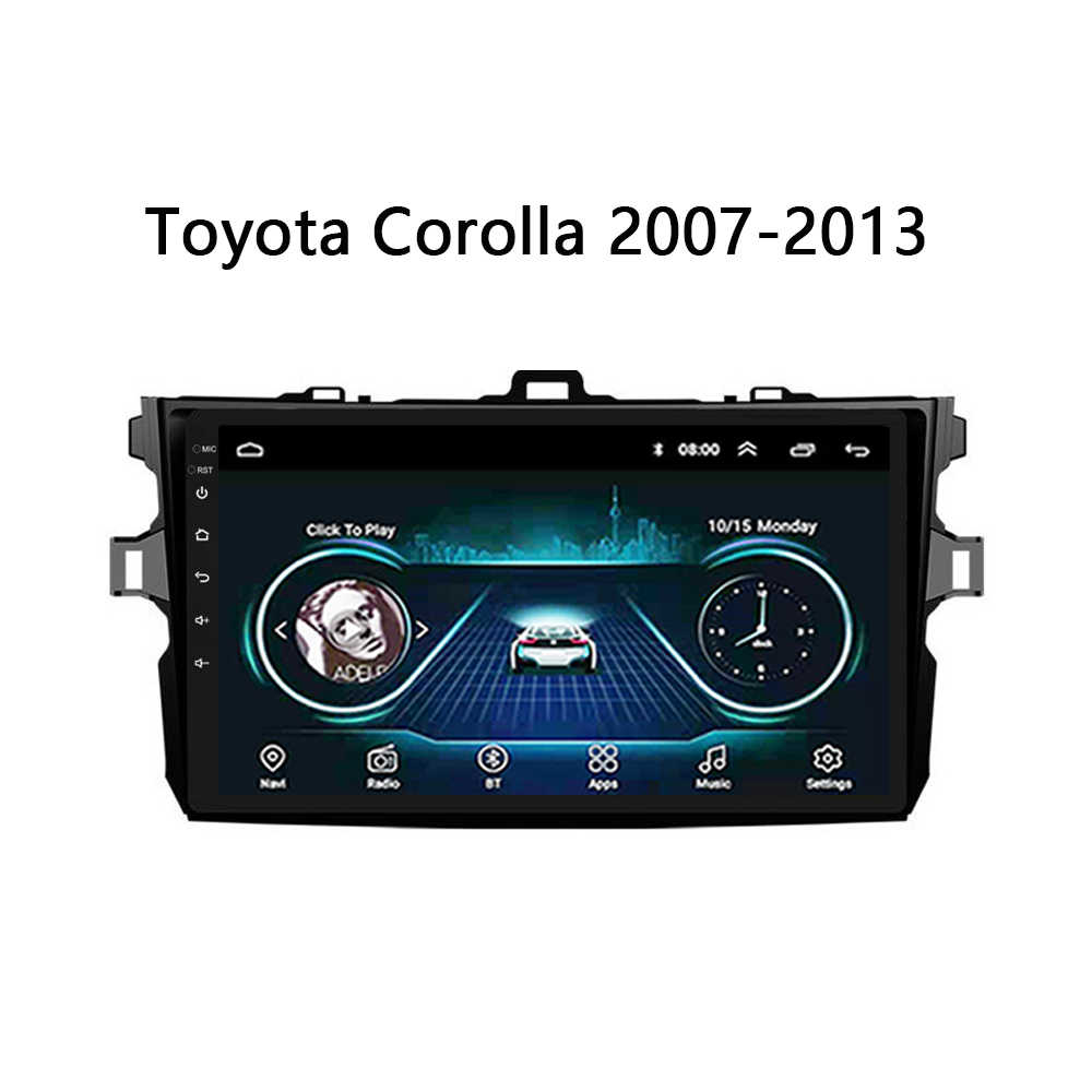 """9"""" Android 8.1 Car Multimedia player GPS HD Full Touch Screen Mirror link for toyota corolla 2007-2013"""