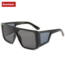 Zeontaat Male Flat Top Sunglasses Men Brand