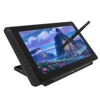 Huion kamvas 13 tablet gráfico ag vidro 8192 monitor caneta display desenho monitor de bateria-livre stylus para android windows macos