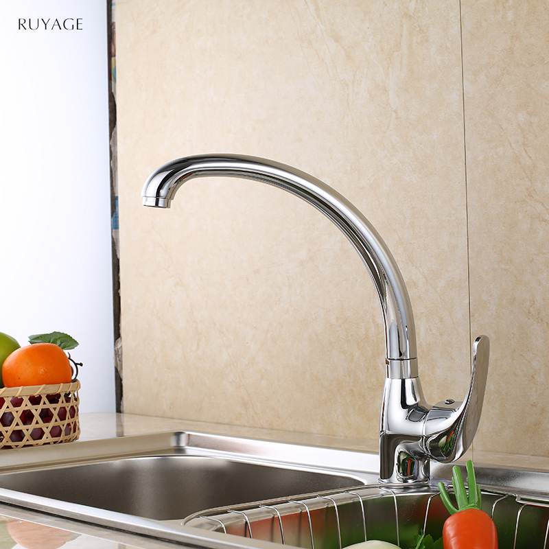 RUYAGE Kitchen Faucets 360 Degree Swivel Solid Zinc Alloy Kitchen Mixer Cold and Hot Tap For Kitchen Single Hole Water 1