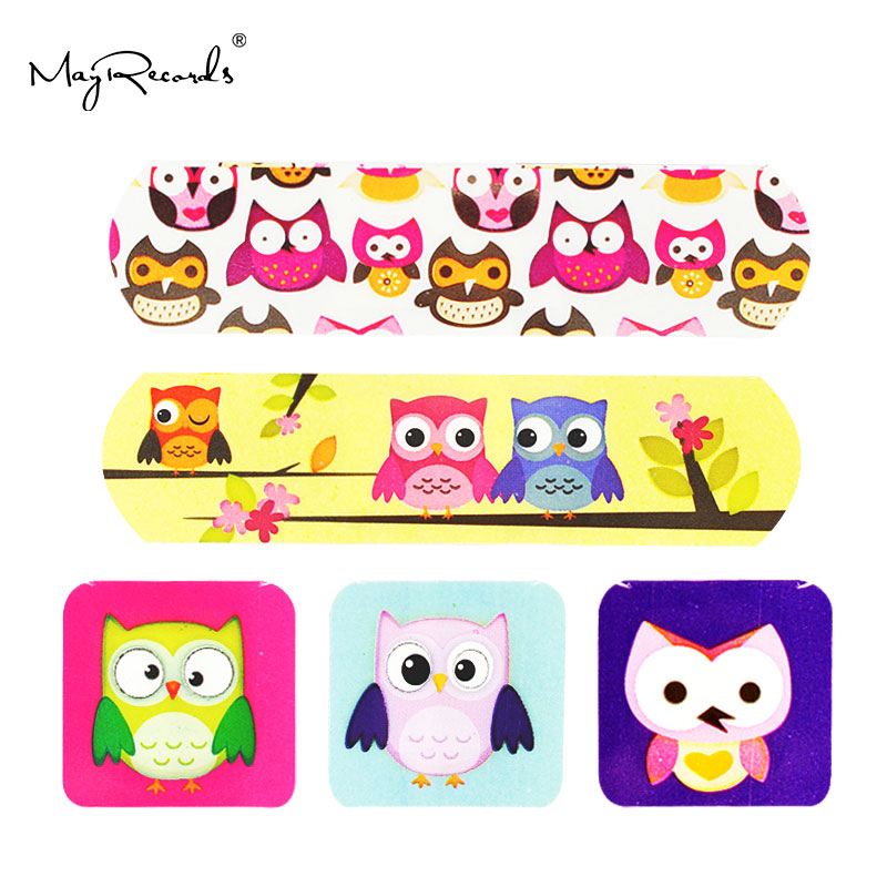 Image 2 - Free Shipping 60 PCs/3Boxes Assorted Waterproof Breathable Owl Cartoon Adhesive Wound Bandage Hemostasis First aid Band aid Kids-in Emergency Kits from Security & Protection