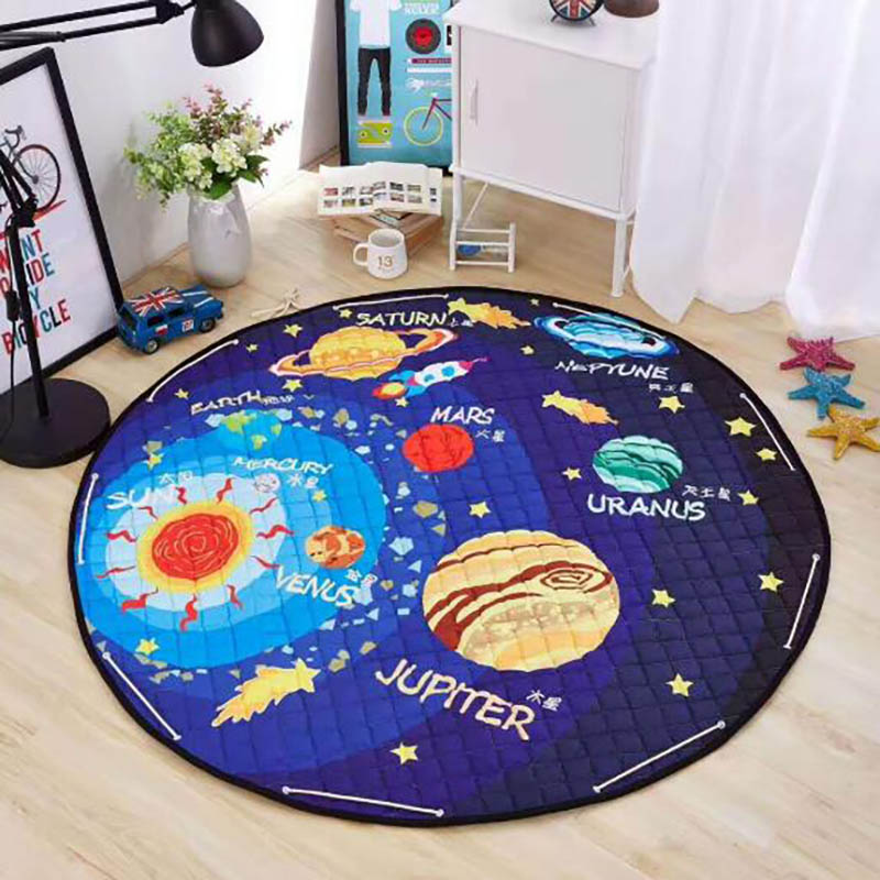Baby Play Mat Crawling Mat Carpet Toys Kids Cotton Rug Storage Bag Cartoon Pad Diameter 150cm Multifunction BXX034