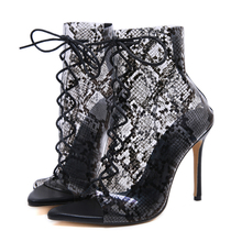 Gladiator Sandals Women Shoes Transparent Pumps Lace Shoes Sexy Party Sandal Open Toe Boots Lace-Up High Heels Summer Shoes summer female sandals high heels sheepskin bohemian up open toe fringe gladiator lace up genuine leather women sandals l2108