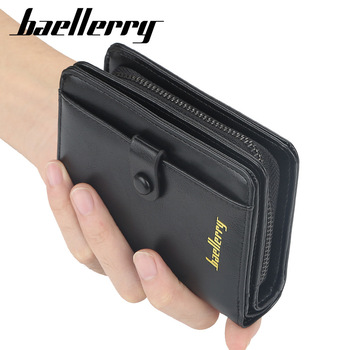 top2020 New PU Leather Men Wallets Short Desigh Business Card Holder High Quality Male Purse Vintage Coin