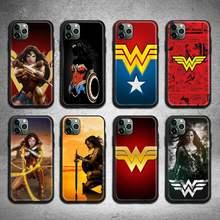 Super-herói maravilhas mulher caso de telefone para iphone 12 11 pro max mini xs max 8 7 6s plus x 5S se 2020 xr capa