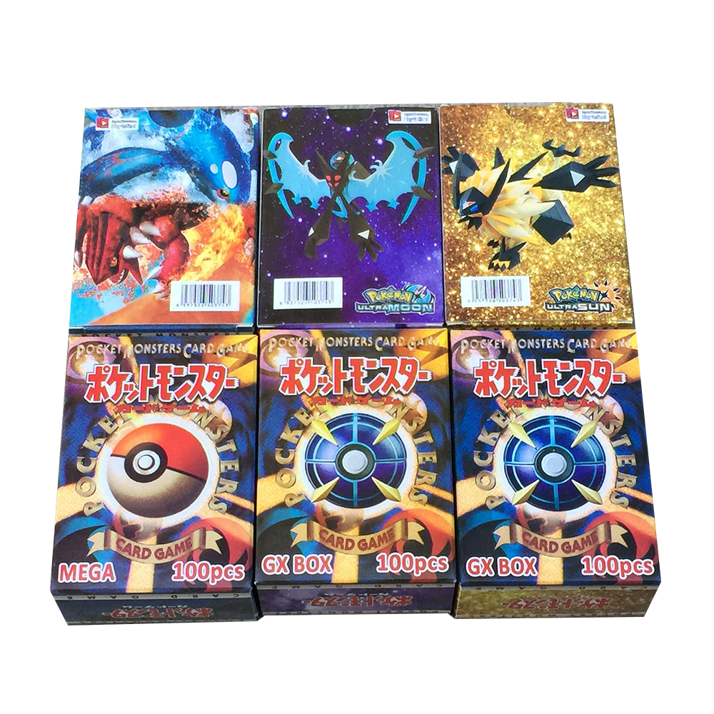 Takara Tomy Pokemon 300PCS GX Flash Cards EX Cards Classic Plaid Flash Pokemon Card Collectible Gift Kids Toy PTCG