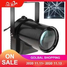 5 واط LED الأضواء الأبيض شعاع دبوس ضوء 200 220LM المرحلة الإضاءة تأثير مصباح مناسبة ل DJ/ديسكو/KTV/بار/الطرف