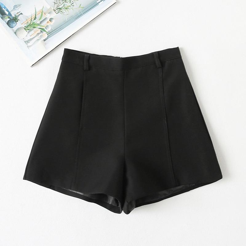 Shorts Women's High Waist Casual Shorts Gray Female Fashion Loose Ruffled Wide-legged Shorts  White