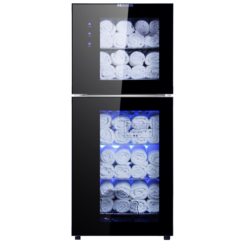 110L/210L Disinfection Cabinet Clothing Bath Towel Low Temperature Ozone UV Sterilizer Tower Dryer Beauty Salon Commercial LCD