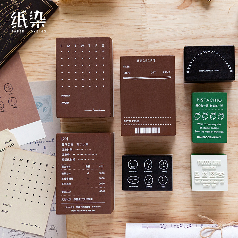 Vintage Time Planner Record List Stamp DIY Wooden Rubber Stamps For Scrapbooking Stationery Scrapbooking Standard Stamp