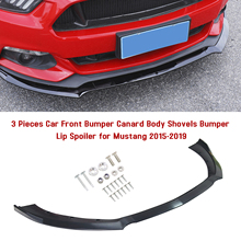 Splitter Spoiler Bumper Lip Mustang Body Canard-Lip Ce for Car Shovels Replacement ABS