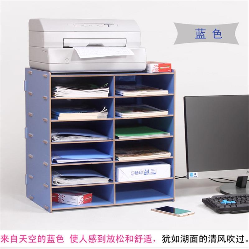Étagère en bois A4 étagère en papier étagère à documents/disque bureau armoire à documents étagère bureau