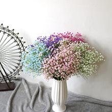 Venda quente 1 pçs/simulação flor gypsophila pequena única flor decoração para casa simulação bouquet de noiva gypsophila