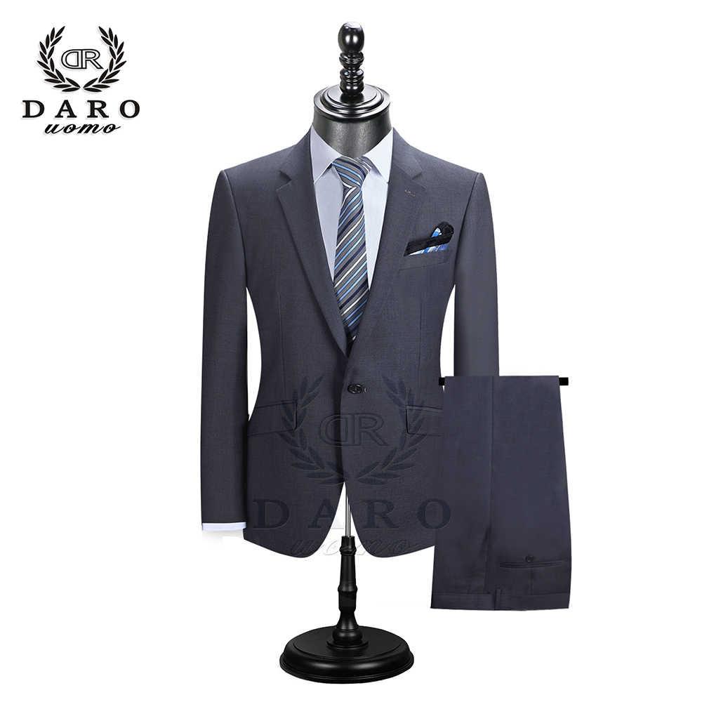 DARO 2019 hommes costumes Blazer avec pantalon Slim Fit décontracté un bouton veste pour mariage DR8158
