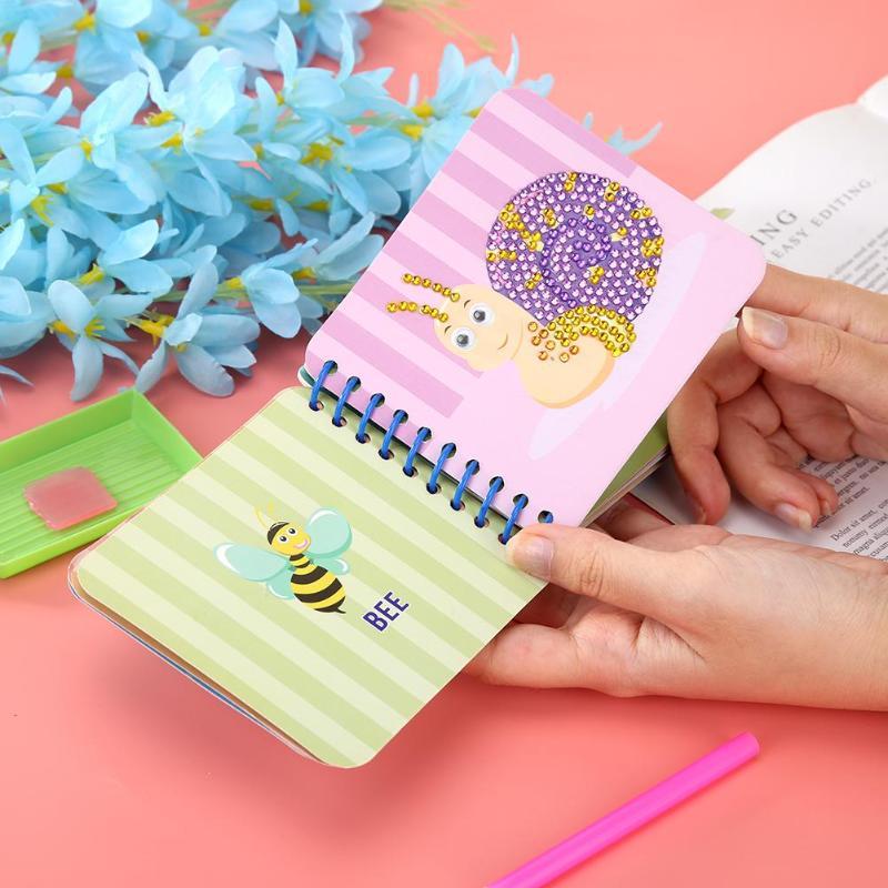 Enfants bricolage diamant peinture jouets ensemble Scratch peinture diamant autocollants éducatifs apprentissage dessin jouets pour enfant