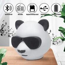 Portable Wireless Bluetooth Speaker Mini Outdoor Sound box Powerful Animal Computer Creative Speaker Cute Panda Shape Subwoofer