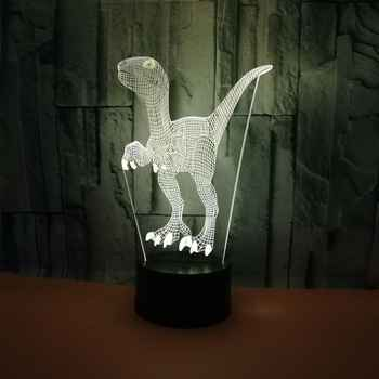 3W Dinosaur 7Color LED Night Light New exotic 3d Lamp Toys Gift For Party Living Room Decoration D30 Kid Gifts