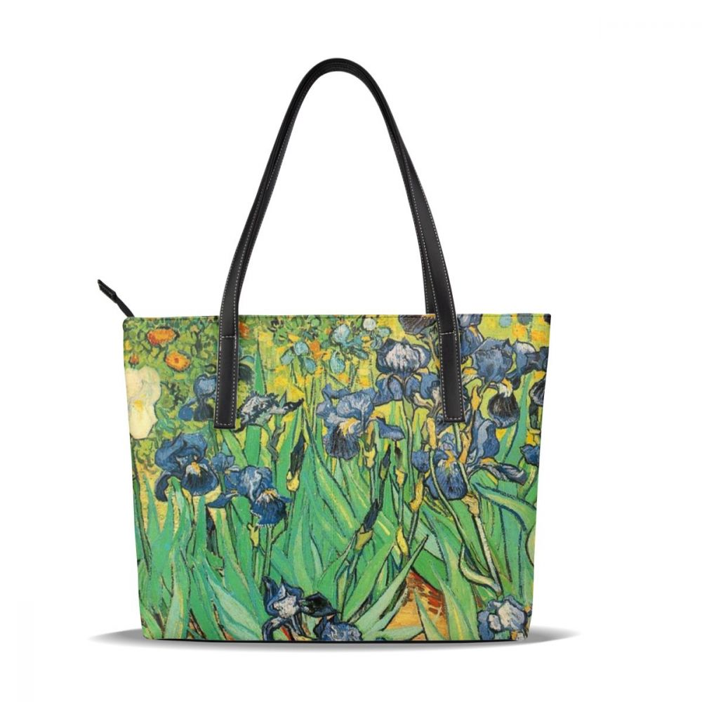 Van Gogh Handbag Van Gogh Top-handle Bags Print Teen Leather Tote Bag Women's Trend Women Handbags
