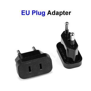 Image 1 - 2 sztuk US do ue wtyczki Adapter stany zjednoczone, wszystkie szpitale w europr Adapter konwerter Adapter podróżny USA do ue konwerter gniazdo elektryczne