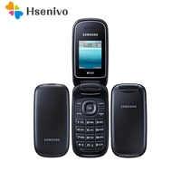 100% Original Entsperrt Samsung Flip E1272 telefon Dual Sim Karte GSM 2G Bluetooth FM Radio handy Freies verschiffen